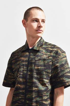 Publish Camo Short Sleeve Zip Shirt