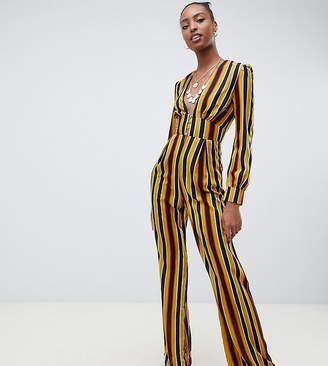 6dea7f452cc Glamorous Tall tea jumpsuit in stripe