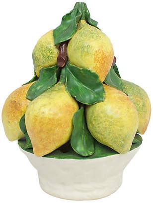 One Kings Lane Vintage Italian Pottery Lemon Topiary - G3Q Designs
