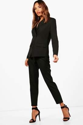 boohoo Erin Straight Leg Woven Suit Trouser