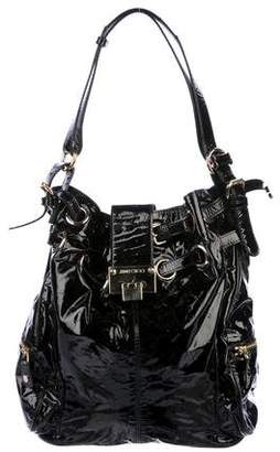 Jimmy Choo Patent Leather Large Shoulder Bag