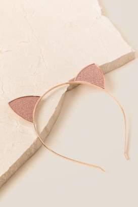 francesca's Reanna Cat Ear Headband In Rose Gold - Rose/Gold
