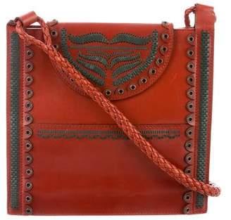 Saint Laurent Woven Leather Crossbody Bag
