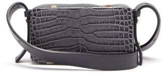 Lutz Morris - Eddy Crocodile Effect Leather Shoulder Bag - Womens - Navy