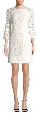 Vince Camuto Floral Lace Shift Dress