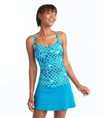 L.L. Bean L.L.Bean Slimming Swimwear, Tankini Top Print