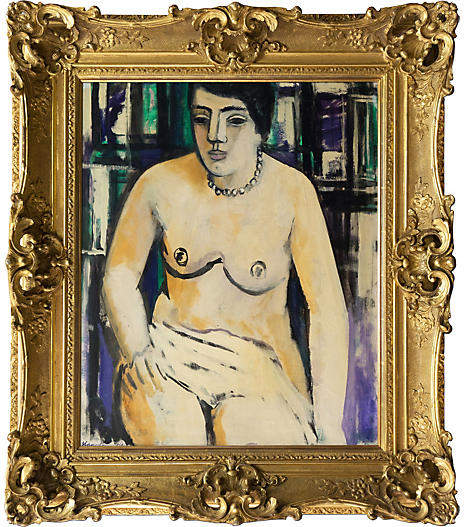 One Kings Lane Vintage Seated Nude by Hagedorn-Olsen
