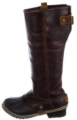 Sorel Leather Knee-High Boots