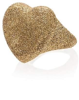 Carolina Bucci 18k yellow gold Heart Florentine Finish ring