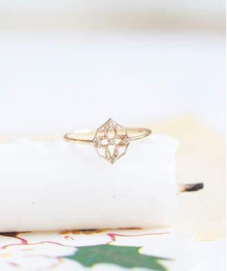 cui-cui (キュイキュイ) - キュイキュイ K10YG 世界最小ダイヤモンド 透かしリング