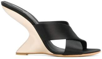 Salvatore Ferragamo F-wedge satin sandals