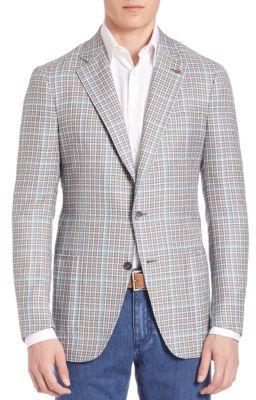ISAIA Delain Silk Blazer $3,125 thestylecure.com