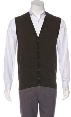 Luciano Barbera Wool Sweater Vest
