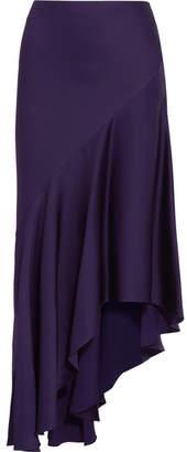 Haider Ackermann - Asymmetric Satin Midi Skirt - Purple $1,045 thestylecure.com