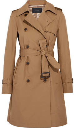 J.Crew - Cotton-canvas Trench Coat - Camel $300 thestylecure.com