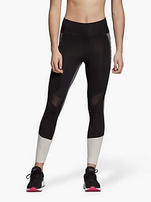 8884b7339e14e6 adidas Design 2 Move High-Rise 7/8 Training Tights, Black/Raw