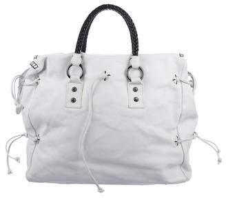 Carlos Falchi Leather Handle Bag