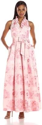 Jessica Howard JessicaHoward Women's Ruffle Neck Ballgown