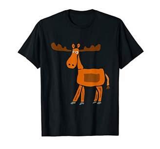 Smilenowtees Funny Moose Primitive Art T-shirt
