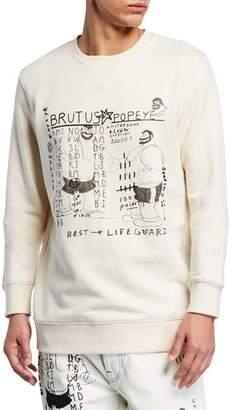 Scotch & Soda Men's Popeye's 90th Anniversary Brutus-Print Sweatshirt