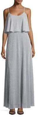 Calvin Klein Metallic Popover Gown
