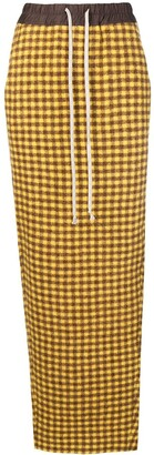 Rick Owens gingham check pencil skirt
