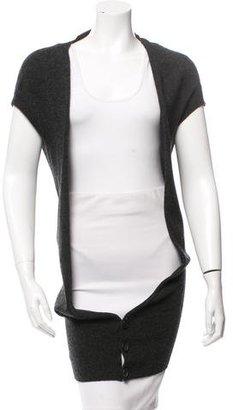 Yohji Yamamoto Wool Short Sleeve Cardigan w/ Tags $195 thestylecure.com