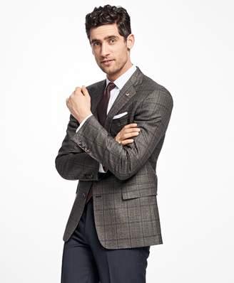 Brooks Brothers Regent Fit Saxxon Wool Windowpane Sport Coat