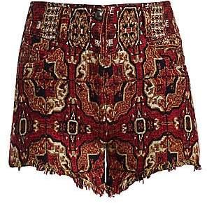 Etro Women's Bloomer Tile Print Jacquard Shorts