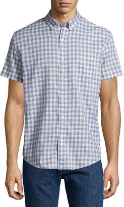 Arizona Short Sleeve Checked Button-Front Shirt