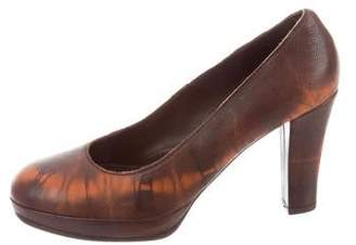 Henry Beguelin Leather Round-Toe Pumps