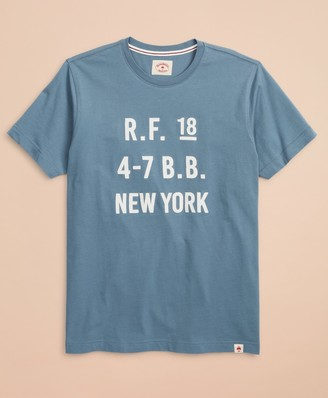 Brooks Brothers Cotton Jersey Logo T-Shirt
