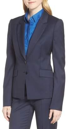 BOSS Jakinala Dark Blue Wool Melange Jacket