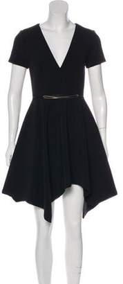 Halston Short Sleeve Knee-Length Dress