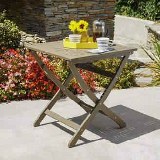 Andover Mills Charlemont Outdoor Foldable Wood Bistro Table