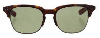 Bottega VenetaBottega Veneta Tortoiseshell Half-Rim Sunglasses