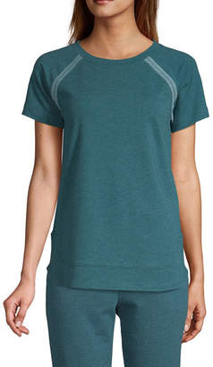 ST. JOHN'S BAY SJB ACTIVE Active Embroidered Top - Tall