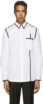 Givenchy White & Black Piping Shirt $535 thestylecure.com