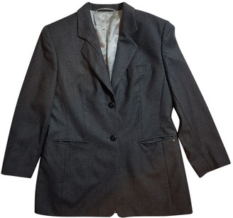 Aigner Grey Wool Jacket for Women