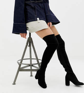 Asos Tall DESIGN Tall Kadi heeled thigh high boots