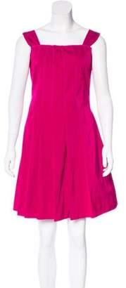 Nina Ricci Pleated Sleeveless Dress