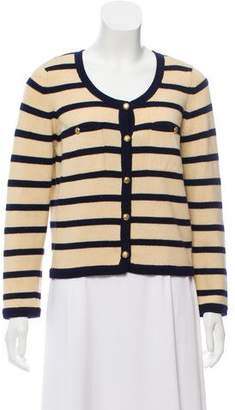 Chanel Cashmere Striped Cardigan