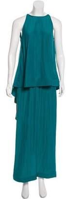 Lanvin Draped Maxi Dress w/ Tags