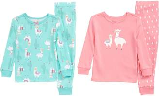 Little Me Llama 2-Pack Fitted Two-Piece Pajamas