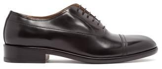 Maison Margiela Toe Cap Stitch Derby Shoes - Mens - Black