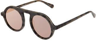 Stella McCartney Round Acetate Sunglasses w/ Chain Trim