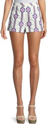 Ramy Brook Jayde Printed Cotton Shorts