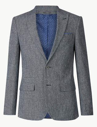 M&S CollectionMarks and Spencer Cotton Rich Slim Fit Jacket