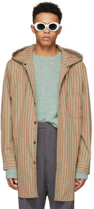 Acne Studios Red and Orange Check Merves Jacket