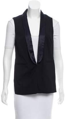 J Brand Shawl-Lapel High-Low Vest